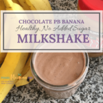 Image of healthy chocolate milkshake