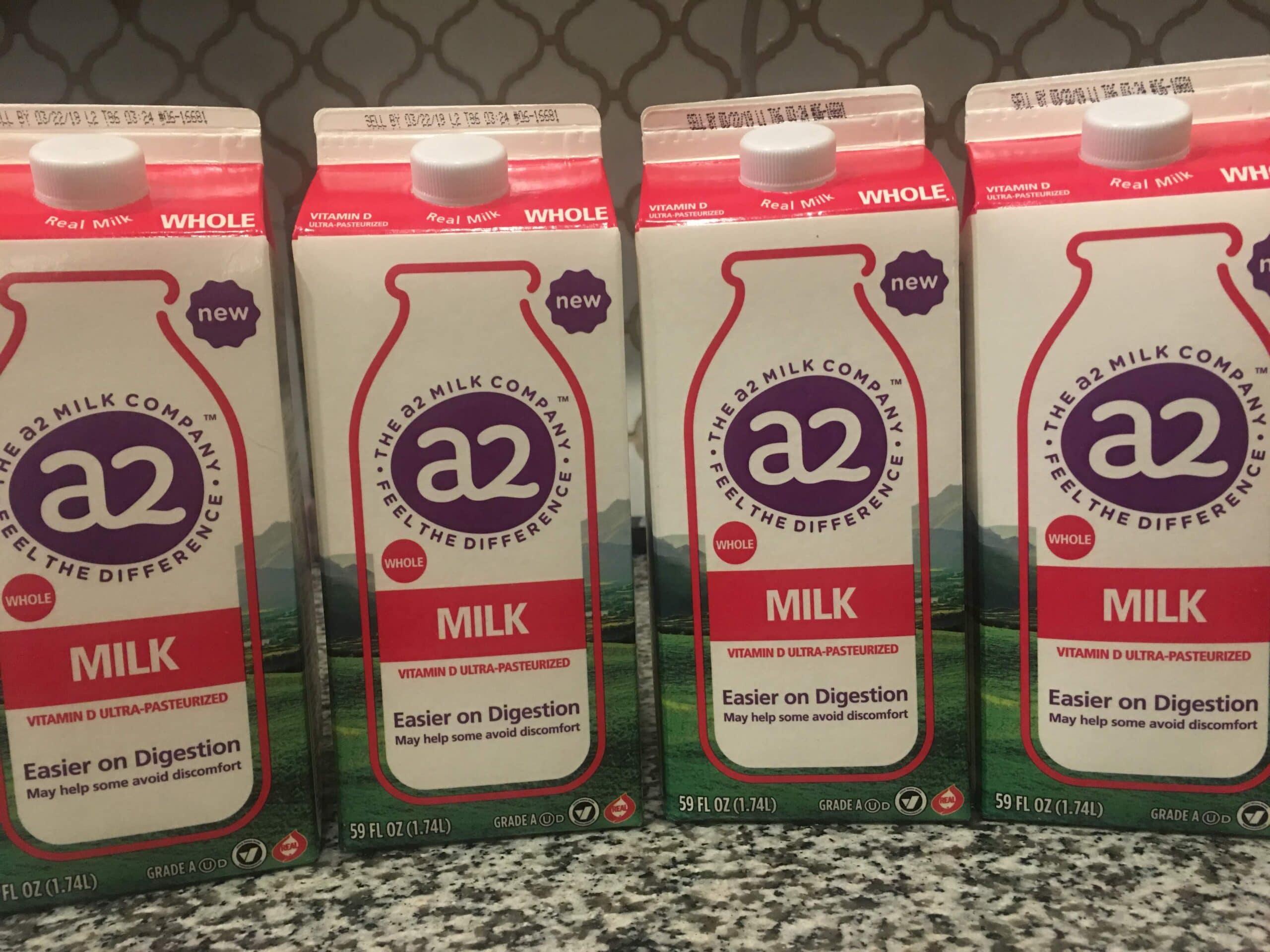 5 cartons of a2 milk, whole milk