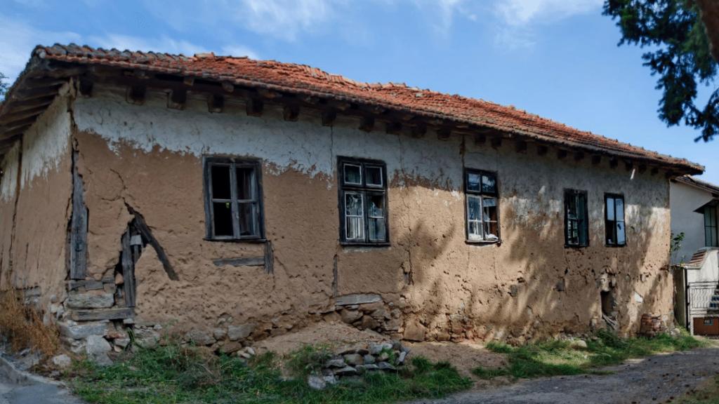 rickety stone house