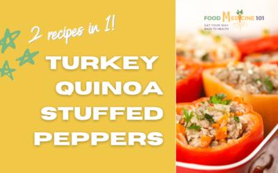30 Min Turkey Quinoa Stuffed Peppers