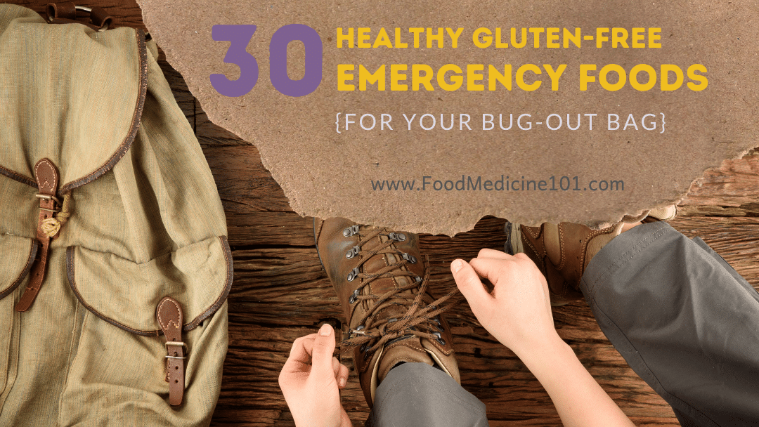 Healthy gluten free bug out bag foods cover