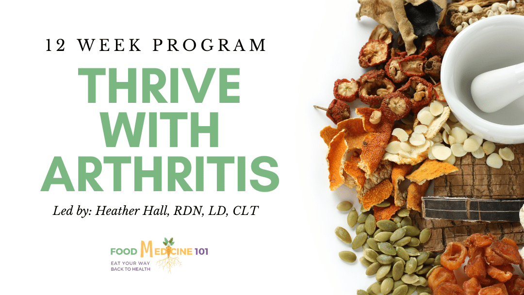 Thrive with arthritis 12 week program cover image