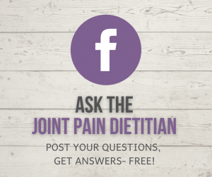 Ask the Joint Pain Dietitian Facebook Button