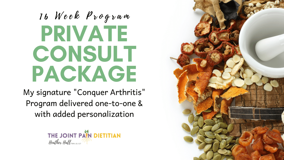 Private Arthritis Diet Consults
