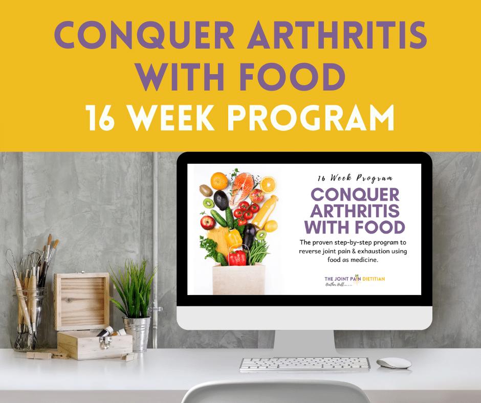 Conquer Arthritis with Food Button